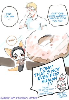 http://kairuru-art.tumblr.com/post/146840398201/one-jumbo-donut-please-stony-x-zootopia-thanks