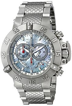 Invicta Mens 4568 Subaqua Noma III Collection Chronograph Watch *** Visit the image link more details. (This is an affiliate link) Sport Watches, Cool Watches, Watches For Men, Men's Watches, Mens Outdoor Clothing, Vintage Rolex, Stainless Steel Case, Luxury Watches, Chronograph