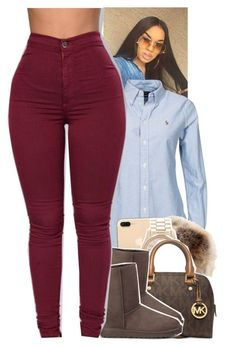 """Untitled #1763"" by toniiiiiiiiiiiiiii ❤ liked on Polyvore featuring Michael Kors and UGG Australia"