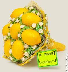 букет лимонов Не кисни, купить в интернет магазине в Москве, оригинальные и необычные подарки