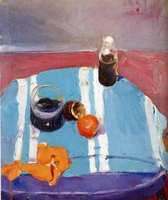 transistoradio:  Richard Diebenkorn, Still Life with Orange Peel (1955), oil on canvas, 62.2 x 74.3cm. Via WikiPaintings.