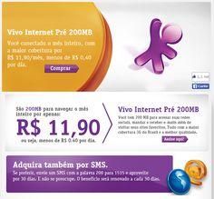 Vivo Internet Pré 200MB - Você conectado o mês inteiro por R$ 11,90/mês