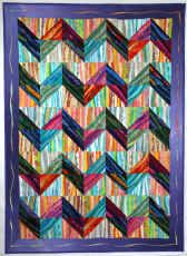 Stripe Happy s.jpg (390619 bytes) by the Quilted Lizard