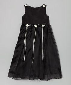Love this Black Satin Organza Dress - Infant, Toddler & Girls on #zulily! #zulilyfinds