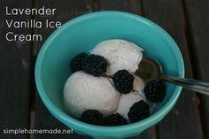 Lavender vanilla ice cream