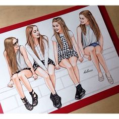 Me and my best friends hanging out | We Heart It | drawing and ...