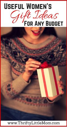 Useful women's gift ideas for any budget.  This post gives you suggestions for finding the perfect gift for a lady in your life.  Includes women's gift ideas, gifts for friends and even gifts for mom!