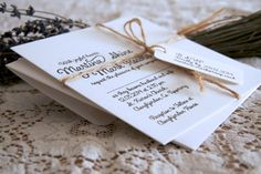 A simple jute string accentuates our new Joyful Hearts Wedding Invitation   View it at https://www.magva.com/wedding-invitations/