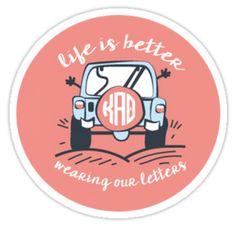 Life Is Better Theta | Sticker