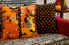 The Swell Life: Spooky Halloween Pillows