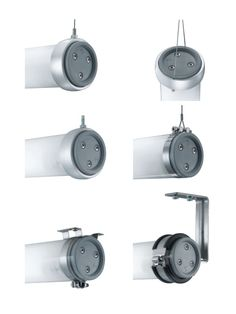 Waldmann tube luminaire bracket options