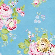 Rambling Rose PWTW129-BLUE by Tanya Whelan for Free Spirit Fabrics: Rambling Rose is a collection for Free Spirit Fabrics by Tanya Whelan.Width: 43