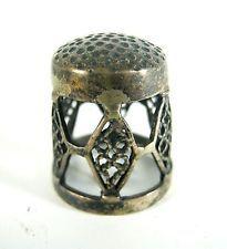 Alter Fingerhut aus 925er Sterling Silber Old Silver Thimble ca. 6g RARE 1