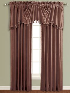 Anna tailored curtains, is a collection of Luxurious faux silk, Panels are lined and there are several matching valance options to complete the look.   #Rod #Pocket #Curtains