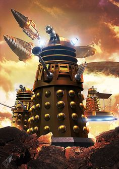 Bobjackets: Time War art by Chrisofedf at deviant art. Doctor Who Dalek, Doctor Who Art, Dr Who Merchandise, Dr Who Companions, Second Doctor, 4th Doctor, Doctor Who Wallpaper, Sci Fi Comics, Sci Fi Series
