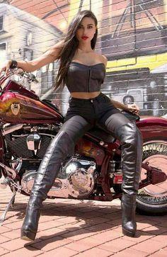 biker chick boots Hot
