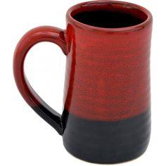Red On Black 17 Oz. Tankard