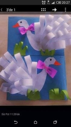 Swan craft for kids. - Bird Crafts for Kids Kids Crafts, Summer Crafts, Easter Crafts, Projects For Kids, Diy For Kids, Diy And Crafts, Craft Projects, Arts And Crafts, Art N Craft