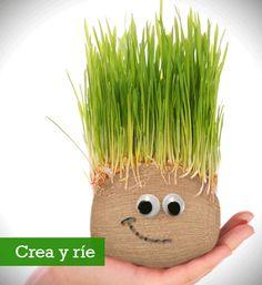 señor cabeza de pasto - Buscar con Google Fun Crafts For Kids, Cute Crafts, Diy For Kids, Activities For Kids, Diy And Crafts, Handmade Decorations, Handmade Crafts, Chia Pet, Plantation