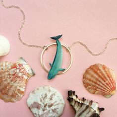 Diving Blue Whale Necklace | Balaenoptera Musculus | Whale Pendant | Whale Charm | Whale Necklace