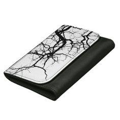 Tree's dark branches women's wallets - pattern sample design template diy cyo customize