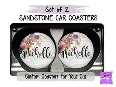 Excited to share this item from my shop: Custom Sandstone Auto Coasters Car Coaster Coaster for Car Cup Holder Car Accessories Decor for Car Unique Gifts Personal Gifts Gifts For Boss, Unique Gifts For Her, Gifts For Wife, Monogram Coasters, Monogram Gifts, Custom Coasters, Mom Birthday Gift, Boss Birthday, Friend Birthday