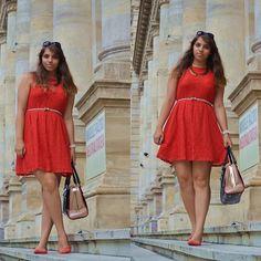 Promod Dress, Primark Flats, Promod Necklace