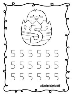 5 Rakamı Numbers For Toddlers, Coloring Pages, Math, School, Math Activities, Preschool, Numbers Preschool, Preschool Math, Preschool Learning