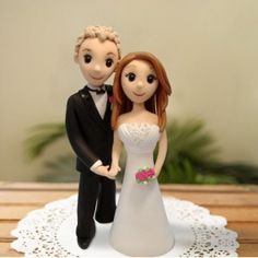 Cake Topper Made Of Clay Cute Idea Funny Wedding Toppers