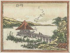 1809-14c Perching Geese at Katata colour woodblock print Rijksmuseum, Amsterdam ART & ARTISTS: Katsushika Hokusai – part 6