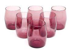 Purple glasses 6x in original box design Timo Sarpaneva 1956 executed by Iittala / Finland