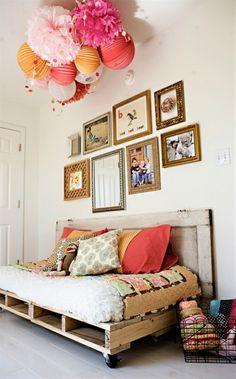 DIY pallet bed via Ashley Ann Photography