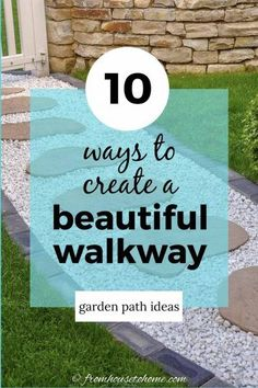 Garden paths and walkways are the backbone of your yard landscaping. Find some beautiful and whimsical DIY garden path ideas and learn which ones are easy to do and which ones are inexpensive. #fromhousetohome #gardenpaths #pathsandwalkways #walkways #diyprojects #gardendesign Wood Pathway, Gravel Walkway, Backyard Walkway, Flagstone Pathway, Walkways, Backyard Ideas, Stone Garden Paths, Brick Garden, Gravel Garden