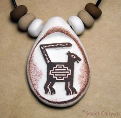 Cat Native American Indian Mountain Lion Cougar Tribal Mimbres Pottery Cat Charm #SecretCabyon