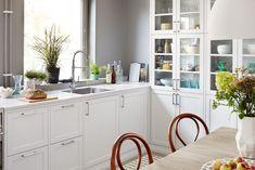 Kjøkkeninspirasjon - Hvitt, klassisk, landlig kjøkken - Gastro