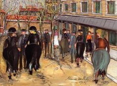 Maurice Utrillo A Nursing Home In Ivry oil painting reproductions for sale