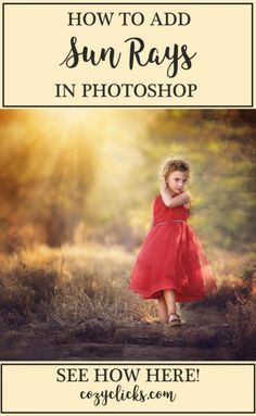 Easy video tutorial to show you how to add sun rays to your photos in Photoshop. Learn the EASY way to add sun rays into your photo in Photshop! Photoshop Tutorial, Actions Photoshop, Photoshop Art, Effects Photoshop, Photoshop For Photographers, Photoshop Photos, Photoshop Photography, Digital Photography, Portrait Photography