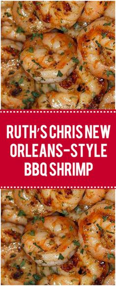 Ruth's Chris New Orleans-Style BBQ Shrimp – Page 2 – Quick Family Recipes - Seafood - Garnelen Cajun Recipes, New Recipes, Cooking Recipes, Favorite Recipes, Healthy Recipes, Family Recipes, Quick Recipes, New Orleans Recipes, Recipes With Shrimp