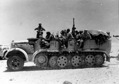 North Africa WWII: Sd.Kfz. 7 tractor с 88-мм gun, pin by Paolo Marzioli