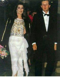 Beautiful & Elegant Princess Caroline of Monaco with her Handsome Husband, Stefano Casiraghi, Italian Businessman and World Speedboat Champion.