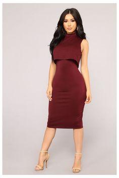 Unforgettable Midi Dress - Burgundy - - Unforgettable Midi Dress – Burgundy Source by whitneydamata Dressy Dresses, Tight Dresses, Stylish Dresses, Women's Fashion Dresses, Elegant Dresses, Day Dresses, Dresses For Work, Burgundy Dress Outfit, Dresses Near Me