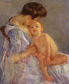 CassattMutterschaft (Mutter ihr Kind küssend) um 1906; Impressionistinnen: Morisot, Cassatt, Gonzalès, Bracquemond, 22. Februar – 1. Jani 2008