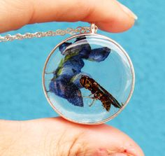 A personal favorite from my Etsy shop https://www.etsy.com/listing/520656836/wasp-necklace-real-wasp-necklace-real