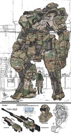 Multicammed_Mecha_by_CatastrophicTheMerc.jpg (720×1360) ★ || CHARACTER DESIGN REFERENCES (www.facebook.com/CharacterDesignReferences & pinterest.com/characterdesigh) • Love Character Design? Join the Character Design Challenge (link→ www.facebook.com/groups/CharacterDesignChallenge) Share your unique vision of a theme every month, promote your art and make new friends in a community of over 20.000 artists! || ★