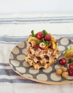 Farmer's Market Fruit on Waffles