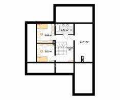 Decyma 7 projekt domu - Jesteśmy AUTOREM - DOMY w Stylu Marcel, Planer, Bungalow, House Plans, New Homes, Floor Plans, House Design, How To Plan, Building