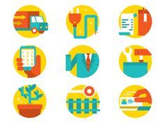 Icons, Symbols & Pictograms / 9 Categories of Workers