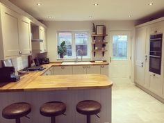 Likes, 54 Comments - Greenbank Interiors ( on Instagr. - House Plans, Home Plan Designs, Floor Plans and Blueprints Cottage Shabby Chic, Shabby Chic Kitchen, Country Kitchen, Open Plan Kitchen, New Kitchen, Kitchen Decor, Shaker Kitchen, House Extension Design, Home And Deco