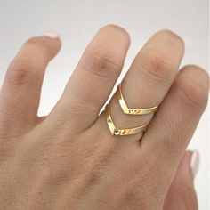 Inel cu linie dubla in forma de V, pentru femei, model de inel simplu, geometric, din otel inoxidabil, ideal de oferit cadou pentru femei