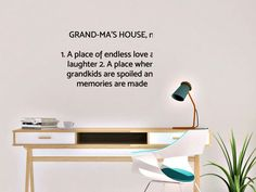 Grandma's House/Grammy's House/ Nana's House Dictionary by AnnieMadeVinyl on Etsy